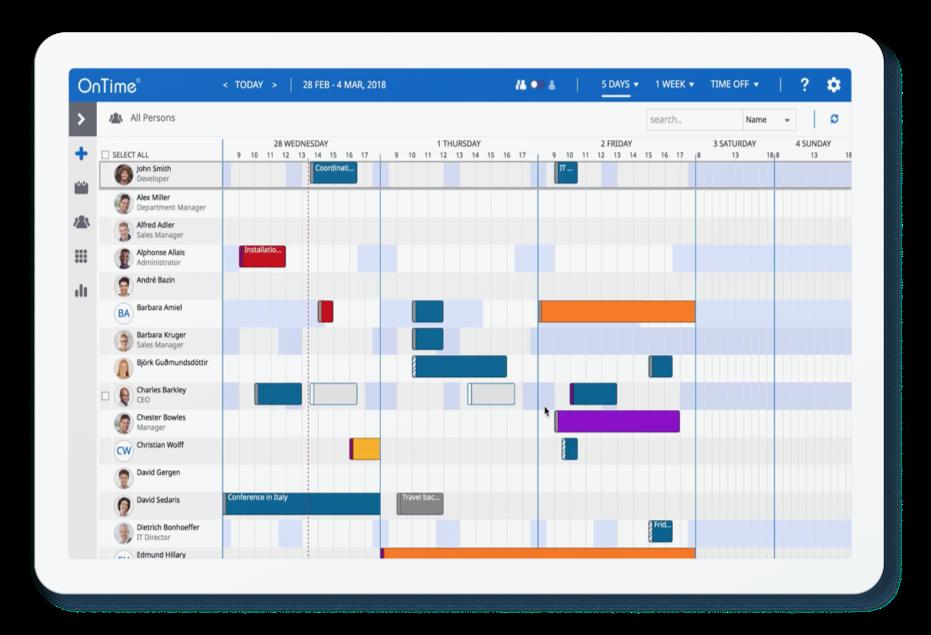 ontime-gruppenkalender-tablet